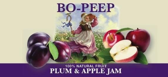 plum & apple jam label